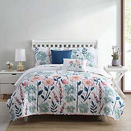 Stemmed Floral 4-Piece Twin/Twin XL Quilt Set