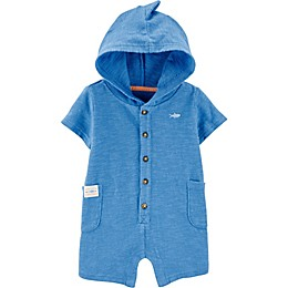 carter's® Hooded Shark Romper in Blue