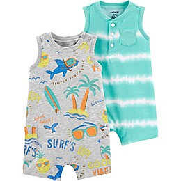 carter's® 2-Pack Surf's Up Rompers