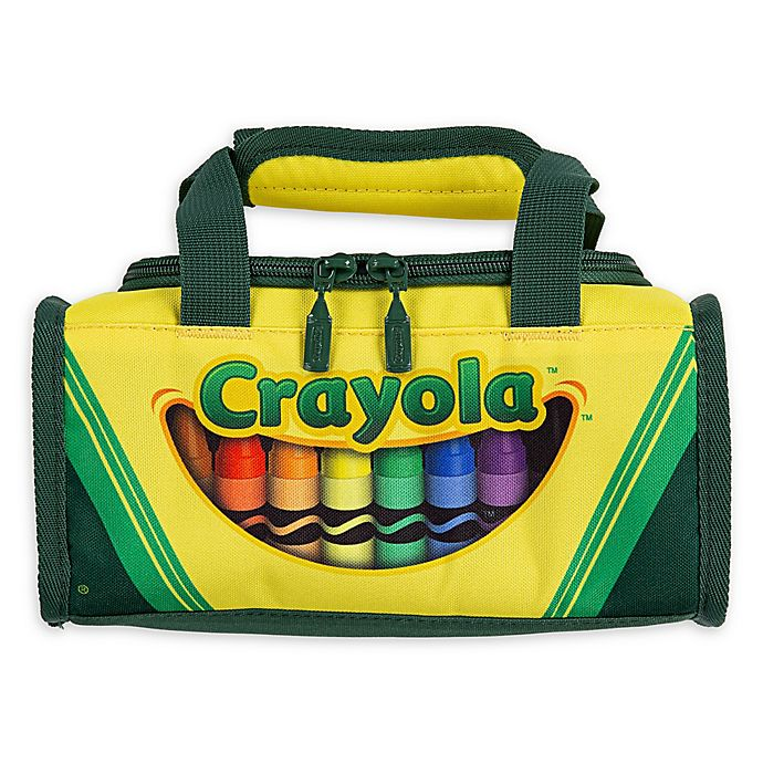 Alternate image 1 for Crayola® Crayon Box Lunch Bag in Yellow/Green