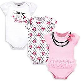 Little Treasure 3-Pack Bestie Bodysuits in Pink