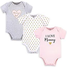 Hudson Baby® Size M 3-Pack Mommy's Girl Short Sleeve Bodysuits