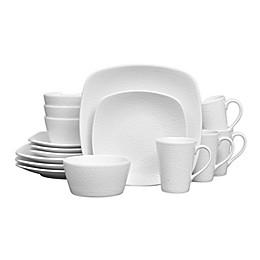 Noritake® White on White Snow Square 16-Piece Dinnerware Set