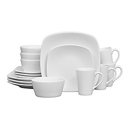 Noritake® White on White Dune Square 16-Piece Dinnerware Set