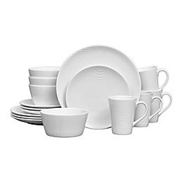 Noritake® White on White Coupe Dune 16-Piece Dinnerware Set