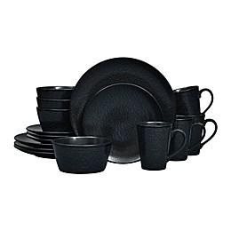 Noritake® Black on Black Snow Coupe16-Piece Dinnerware Set