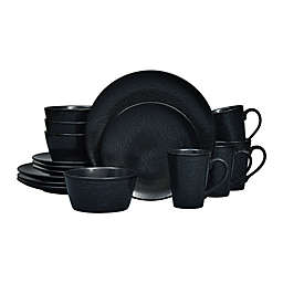 Noritake® Black on Black Snow Coupe16-Piece Dinnerware Set