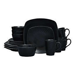 Noritake® Black on Black Dune Square16-Piece Dinnerware Set