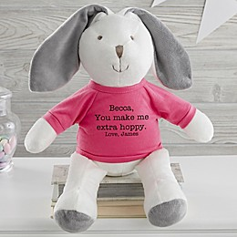 Write Your Own Personalized Plush Bunny