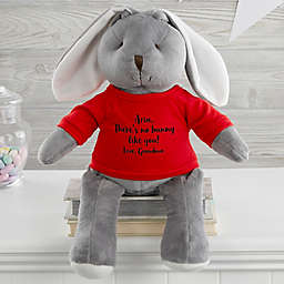 Write Your Own Personalized Plush Bunny in Grey