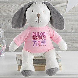 All About Baby Personalized Plush Bunny