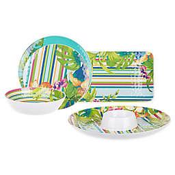 Corozol Tropical Melamine Dinnerware Collection