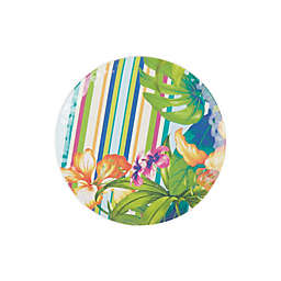 Corozol Tropical Melamine Salad Plate in Turquoise
