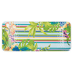 Corozol Tropical 17.8-Inch Melamine Serving Tray in Turquoise