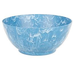 Swirl Serving Bowl in Blue/White