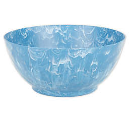 Swirl Serving Bowl in Blue/White