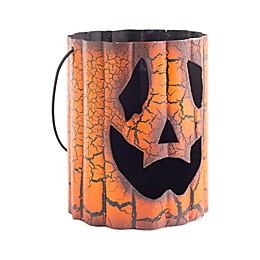 Heritage Home Halloween Pumpkin Tin Candle Holder