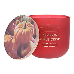 Heirloom Home Pumpkin Apple Crisp 14 oz. Glass Jar Candle in Red