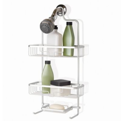 Bed Bath And Beyond Shower Caddy org™ neverrust® aluminum shower caddy in satin chrome | bed bath