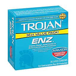 Trojan® ENZ™ 36-Count Spermicidal Premium Latex Condoms