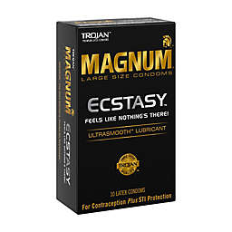 Trojan® Magnum Ecstasy 10-Count Large UltraSmooth Lubricant Latex Condoms