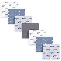 Hudson Baby® 7-Pack Airplanes Flannel Receiving Blanket in Grey