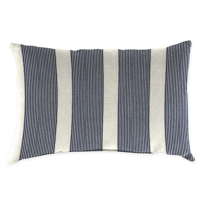 Alternate image 1 for Jordan Manufacturing Striped Oblong Indoor/Outdoor Throw Pillow