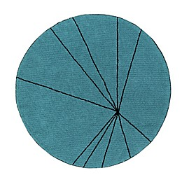 Lorena Canals Trace 5' Round Hand Knotted Area Rug