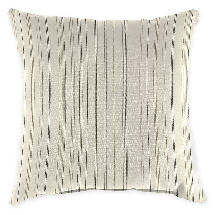 Alternate image 1 for Jordan Manufacturing Striped Square Indoor/Outdoor Throw Pillow
