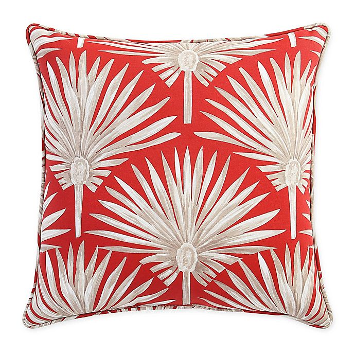 Alternate image 1 for Destination Summer Palm Square Indoor/Outdoor Throw Pillow