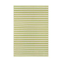 """Momeni® Baja Stripe 6'7"""" x 9'6"""" Indoor/Outdoor Area Rug in Green"""