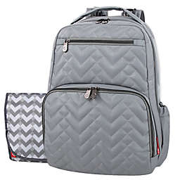 FP QUILTED MORGAN SIGNATURE BACKPACK GREIGE