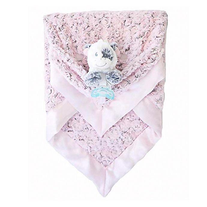 Alternate image 1 for Zalamoon  3 Piece Blanket Gift Set in Blush