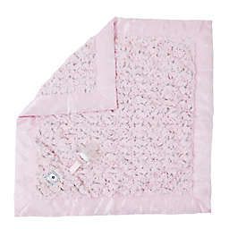 Zalamoon Plush Luxie Pocket Blanket with Pocket Holder for Pacifier or Toy in Blush