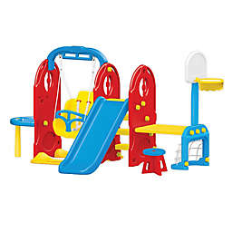 7-in-1 Backyard Playground in Red
