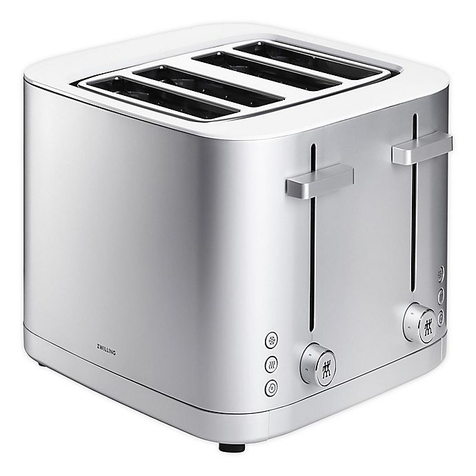 Alternate image 1 for Zwilling J.A. Henckels Enfinigy 4-Slot Toaster in Grey/White