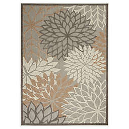 Nourison Aloha 3'6 x 5'6 Indoor/Outdoor Area Rug in Natural