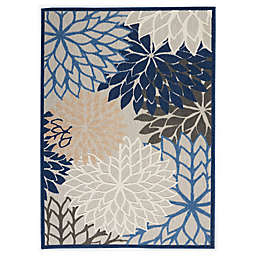 Nourison Aloha 6' x 9' Indoor/Outdoor Area Rug in Blue