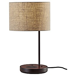 Adesso® Oliver AdessoCharge Table Lamp in Black