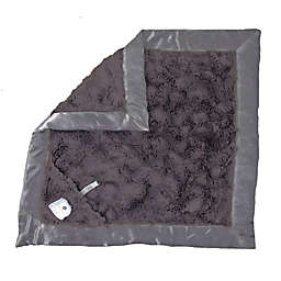 Zalamoon Plush Luxie Pocket Blanket with Pocket Holder for Pacifier or Toy in Charcoal