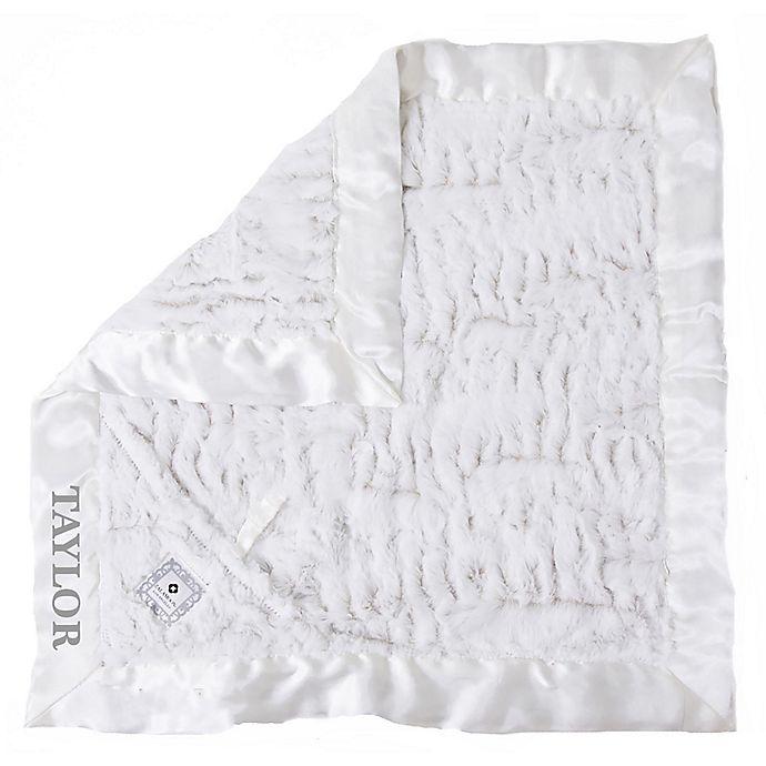 Alternate image 1 for Zalamoon Plush Luxie Pocket Monogram Blanket with Pocket Holder in Flake