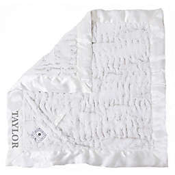Zalamoon Plush Luxie Pocket Monogram Blanket with Pocket Holder in Flake