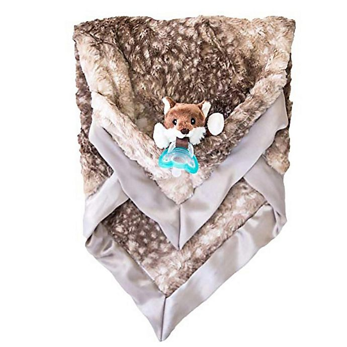 Alternate image 1 for ZALAMOON Jollypop x Raz Baby Luxie Polyester Fox Blanket in Brown