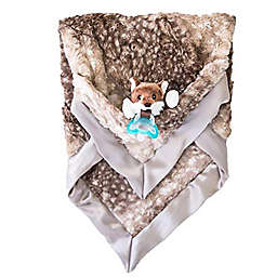 ZALAMOON Jollypop x Raz Baby Luxie Polyester Fox Blanket in Brown