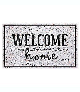 """Tapete para entrada Apache Masterpiece de 45.72 x 76.2 cm con frase """"Welcome to our home"""""""