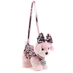 Poochie and Co.® Plush Maltese Puppy Purse in Pink