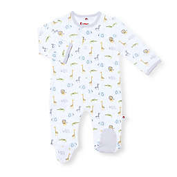 EMC2 Lil Safari Magnetic Footie in White