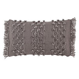 ED Everyday Fringed Dot Lumbar Toss-Grey