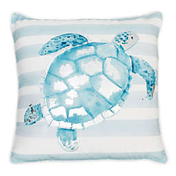Torrance Turtle Square Throw Pillow in Blue