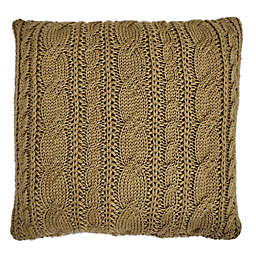 Bee & Willow™ Home Knit Square Throw Pillow in Gold Cable